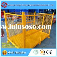 Stackable and Foldable Metal Mesh Box Pallet For Producing Deparment