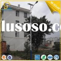 LED High illumination 80W solar street lighting system with 10M