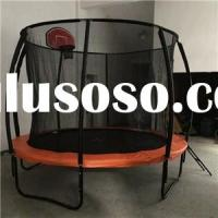 10FT New Round Spring Trampoline With Curved Poles