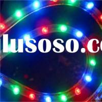 Silicone PVC RGB LED Strip, Flat 3mm RGB DIP LEDs(CE