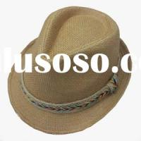 Black Paper Straw Hats for Men