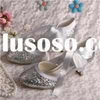 Silver Glitter Prom Shoes Mary...