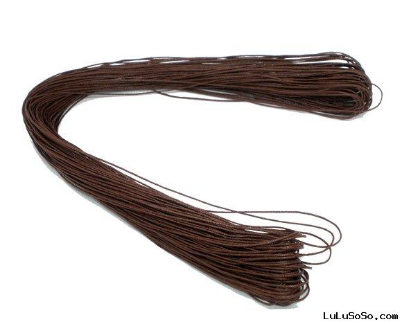 100M Wholesale Brown Waxed Cotton Necklace Cord 1mm