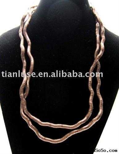 2011 Newest Fashion Flexible Snake Necklace with Antique Bronze color