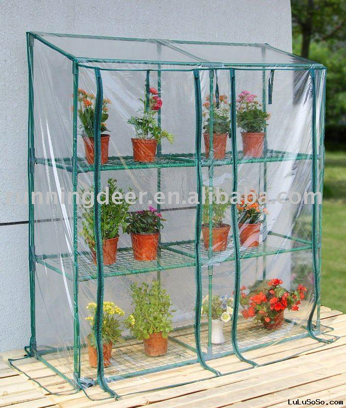 3tiers PVC greenhouse construction
