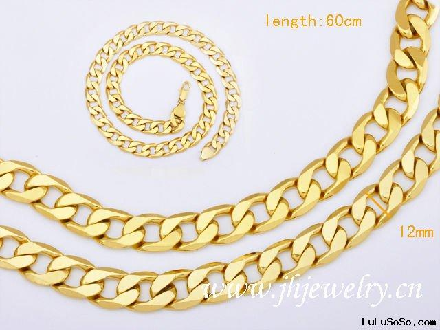 60CM South Africa Jewelry Chain Gold Plated Necklace 40010308
