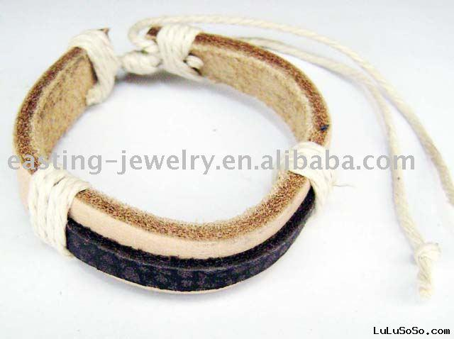 Adjustable Leather Cord Bracelet