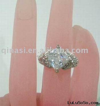 CZ cut diamond ring