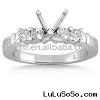 Four Stone 18k White Gold Engagement Ring Setting (0.40 ct.tw.)diamond ring settings