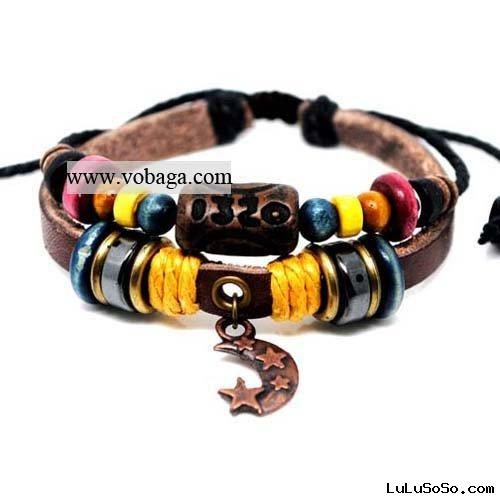 Latest styles fashion bracelet leather bracelet magnetic balance