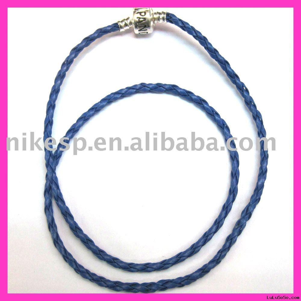Pandora Style Leather Bracelet & Necklace (B-P019)