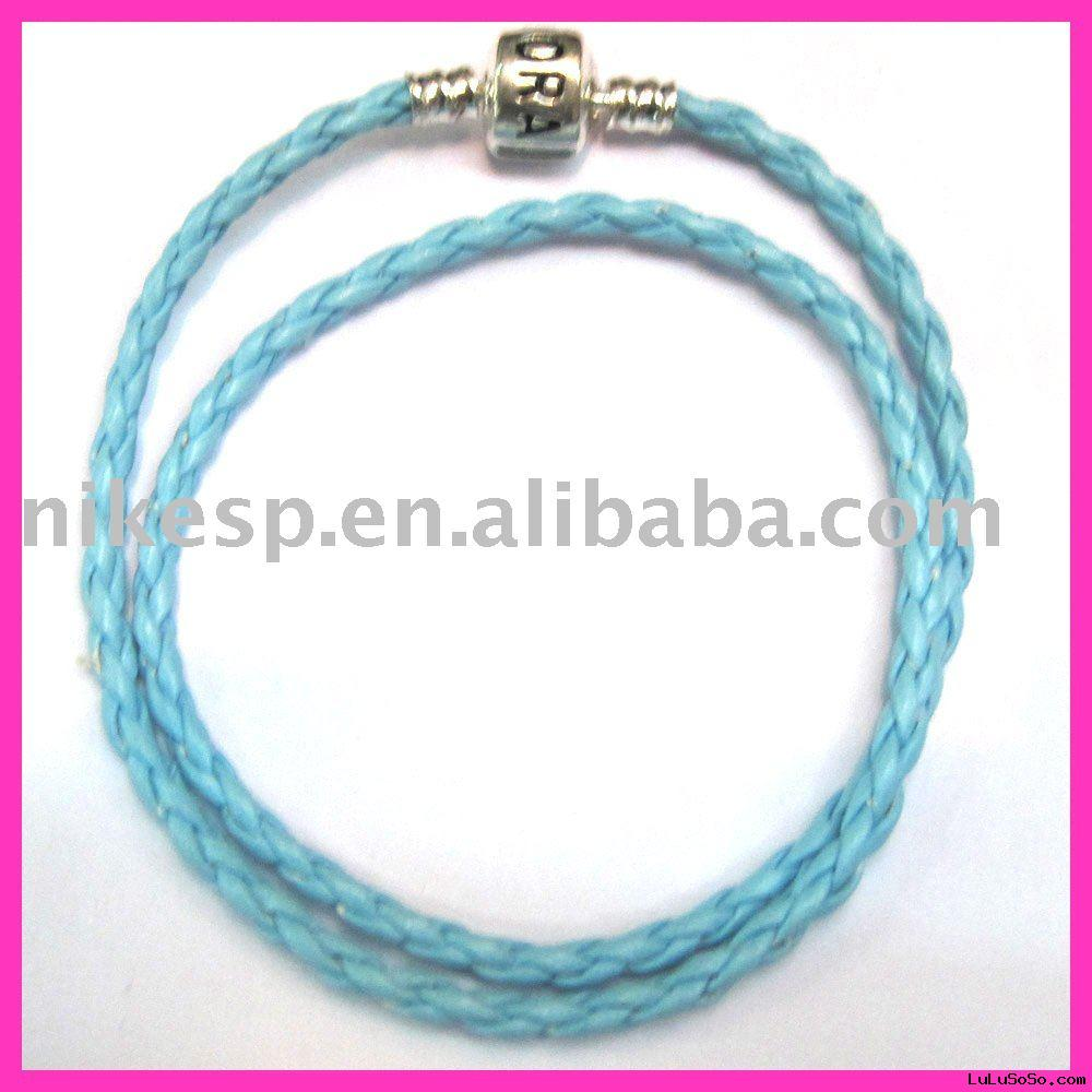 Pandora Style Leather Necklace & Bracelets (B-P017)