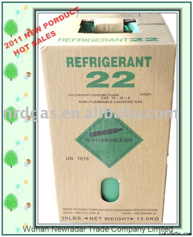 R22 refrigerant 30lb disposable tank