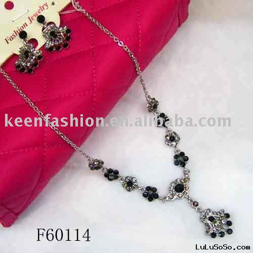 black diamond necklace sets