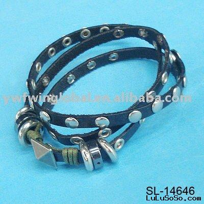 bracelet(adjustable leather cord bangle,fashion jewelry)
