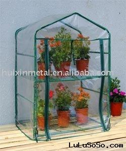 tube layer easy assembly greenhouse,plastic cover tube frame house HX51101