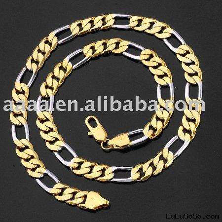 wholesale 24K gold plating copper gold jewelry(big gold necklace)