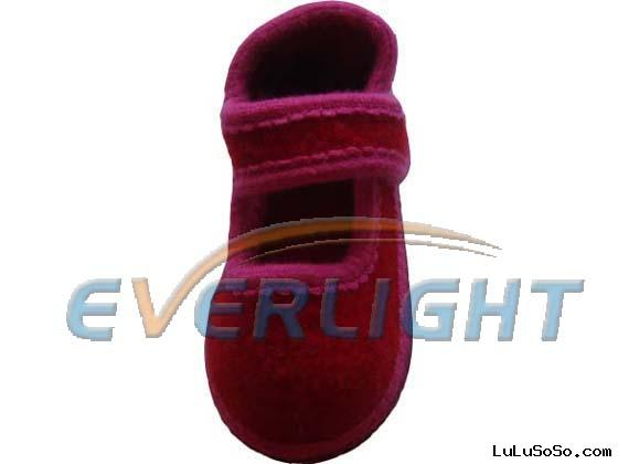 wool slipper,material:boiled wool