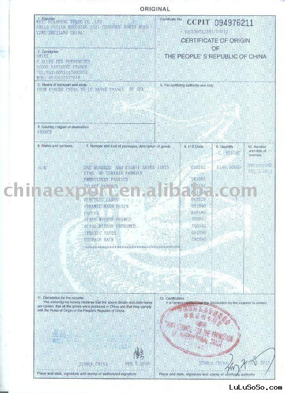us israel certificate of origin template - certificate of origin certificate of origin manufacturers