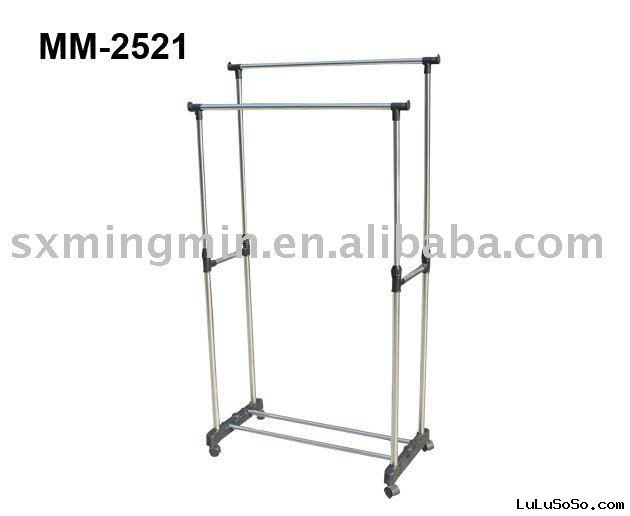 Heavy Duty Double Bar Garment Rack
