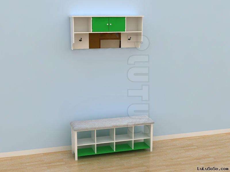 Plastic shoes cabinet kids shoes rack kindergarten plastic furniture colorful shoes shelf for kids