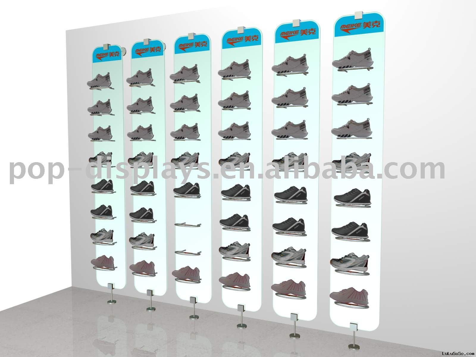 Metal Store Shoe Rack