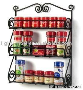 Wrought Iron Scroll Three-Tier Spice Rack