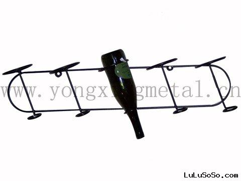YX-WR008  Metal Wall Wine Rack