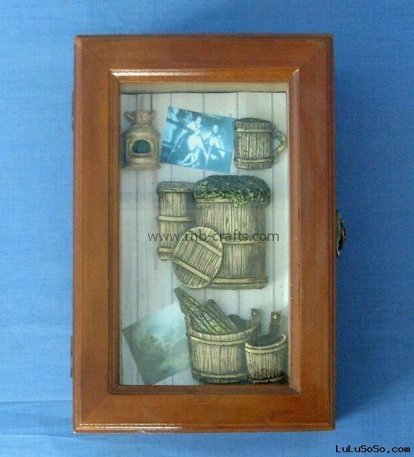 wooden Cellar barrels wine bottle rack shadow box key box holder wall hanging handicrafts gifts