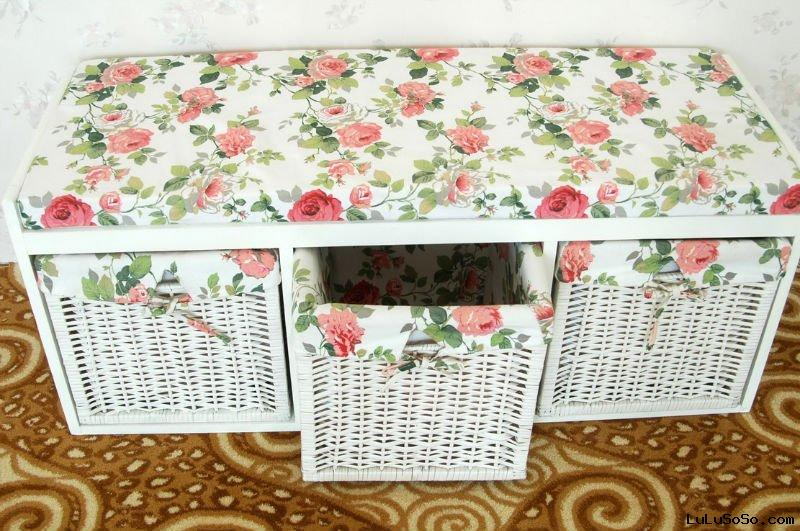 wooden shoes bench shes storage cabinet with 3 willow basekt