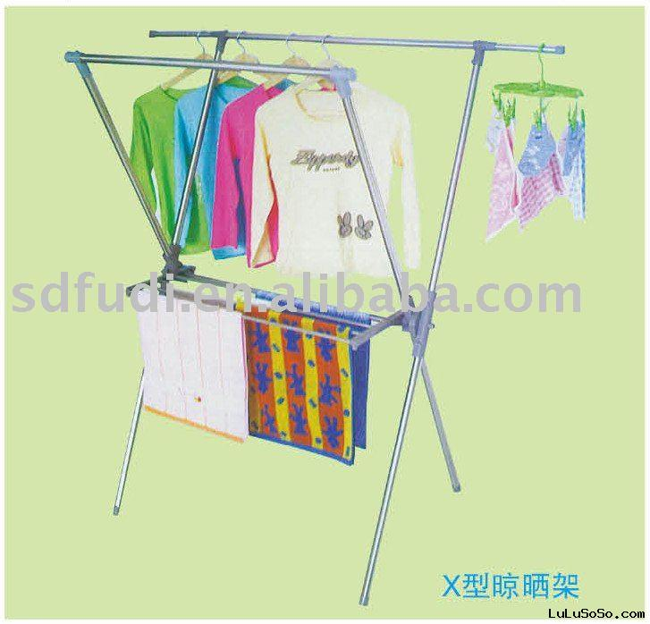 x-type drying rack for garment-stainless steel