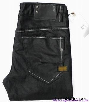 2011 NEW FASHION WHISKERS 100% COTTON MEN'S BLACK DENIM JEANS MCJ613B