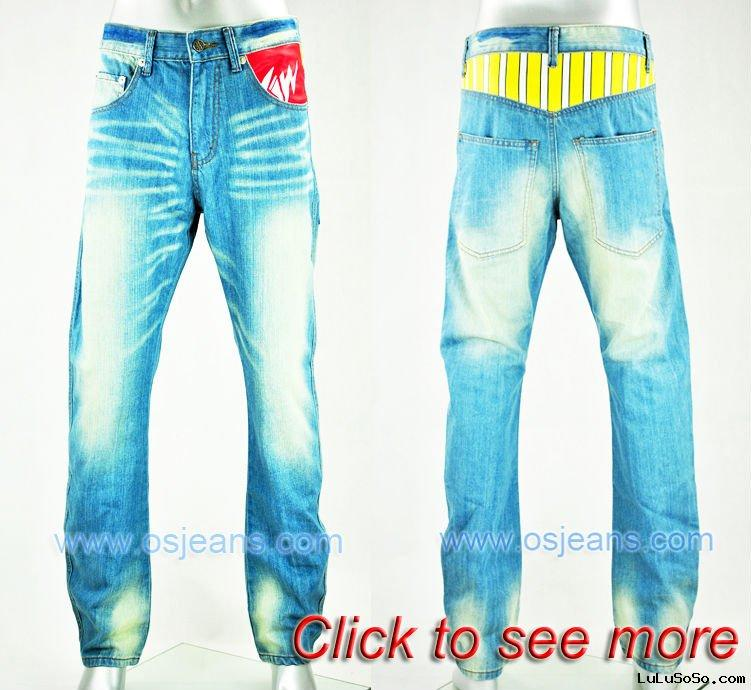 2011 new  pu printing men jean pants (sample is offered)