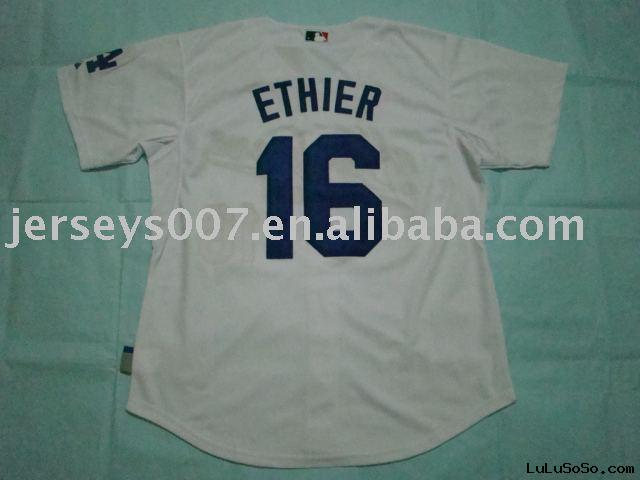 Authentic Los Angeles Dodgers #16 Andre Ethier white cool base Jersey.accept paypal.do drop ship