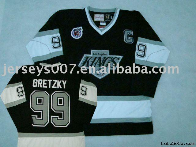 Ice hockey jerseys #99 gretzky  los angeles KIngs accept paypal and dropshipping