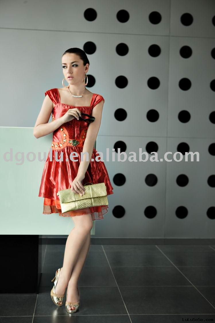 2009 NEW Fashion ladies' dress (lady garment;evening dress)