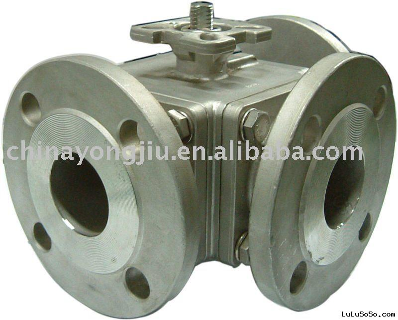3 Way Ball Valves Work with Pneumatic Actuators