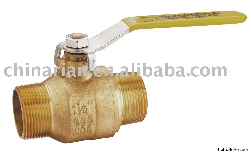 BRASS MALE BALL VALVE