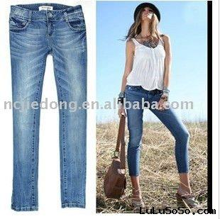 Plus size popular fashion denim skinnywomen's  jean pants
