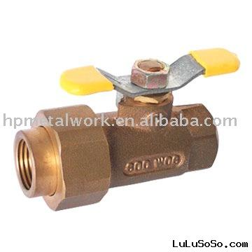 Single Union End Bronze Ball Valve with Tee Handle