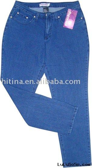 lady's  fashion plus size Jeans stock