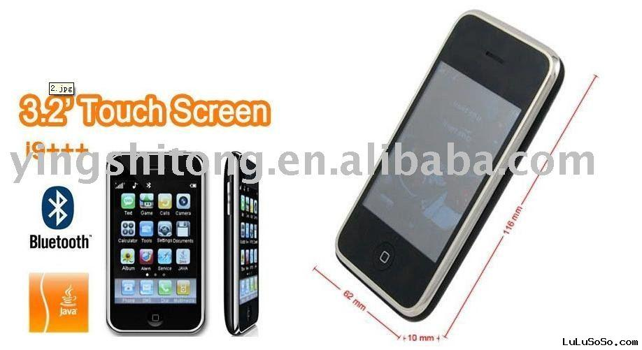 3.2 inch Touch screen 3GS Cheap mobile phone Dual SIM Card hy006 I9 I68 hebrew Free shipping