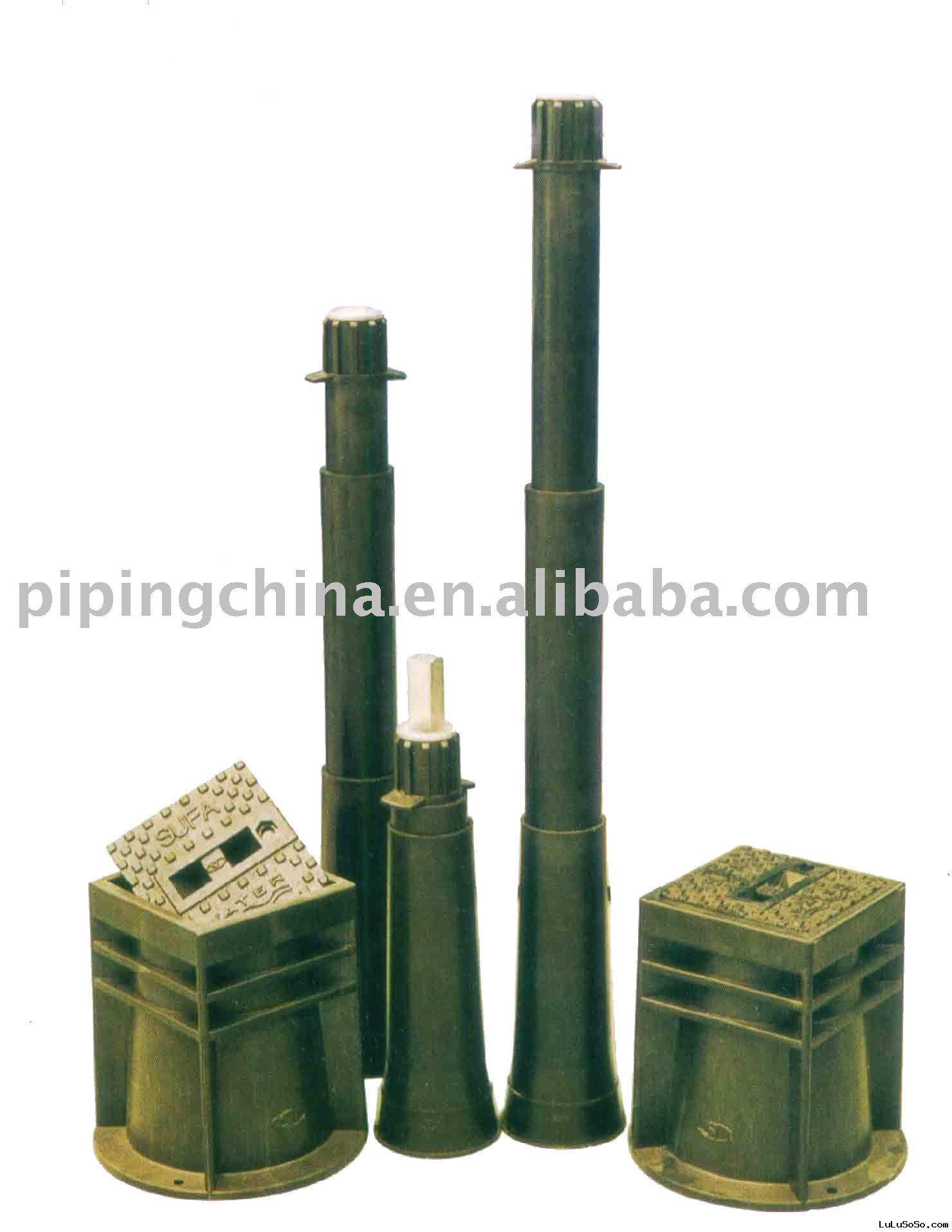 Accessory for underground valve (extension spindle and surface box)