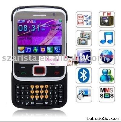 Dual SIM Cards Dual Standby QWERTY Keyboard Cell Phone JAVA TV China Cheap Mobile Phone S61