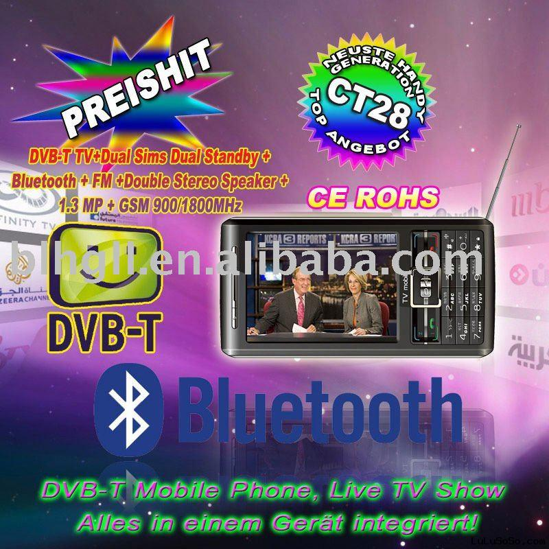 CT28 DVB-T Digital TV Mobile Phone (CE+ROHS),GSM Mobile Phone,Free Customer LOGO.
