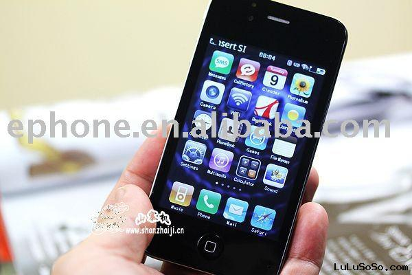 Ephone 4GS Dual Card Dual Camera Quad Band With WIFI 3.5inch  Flat Touch Screen Cell Phone Black