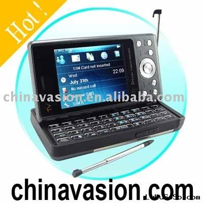 PDA Mobile Phone, Unlocked Dual SIM GSM Mobile Phone with QWERTY Keyboard