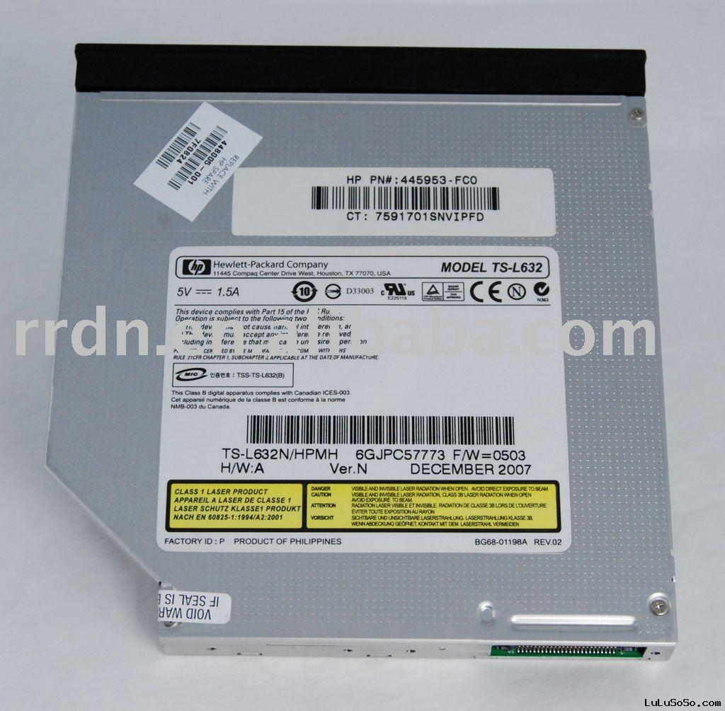 Laptop internal CD DVD-RW Optical Drive TS-L632N with LightScribe Drive