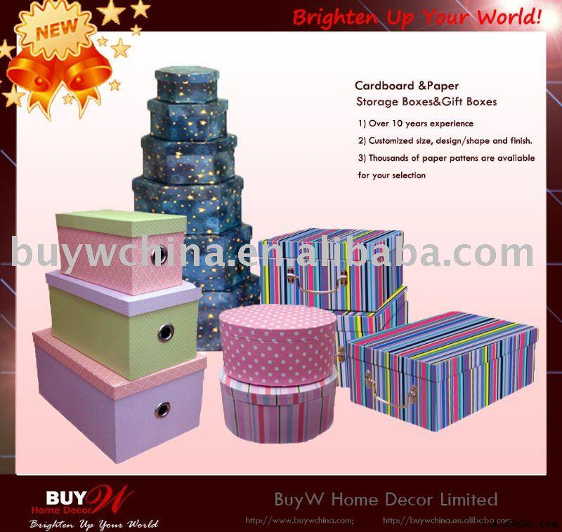 Decorative Cardboard/Paper storage boxes