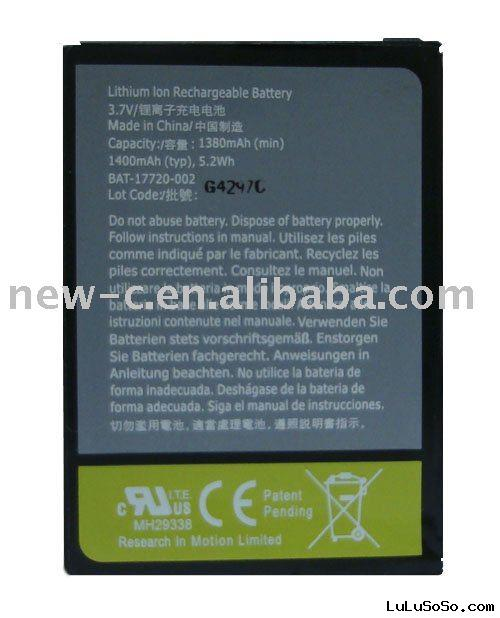 mobile phones 2000mah battery for blackberry